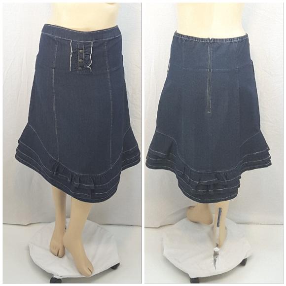 6438e5864a Toxik3 Skirts | Plus Nwt Stretch Denim Skirt Size 3x | Poshmark